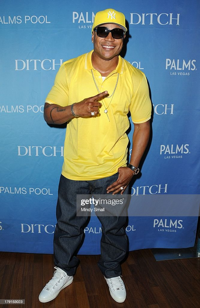 LL Cool J arrives at 'Ditch Saturdays' at Ditch Pool & Dayclub at Palms Casino Resort on August 31, 2013 in Las Vegas, Nevada.