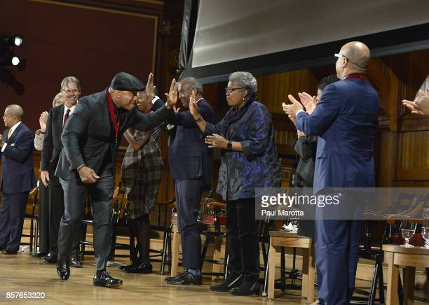 Cool J at the 2017 WEB DuBois Medal Ceremony at Harvard University's Sanders Theatre on October 4 2017 in Cambridge Massachusetts 2017 recipients...