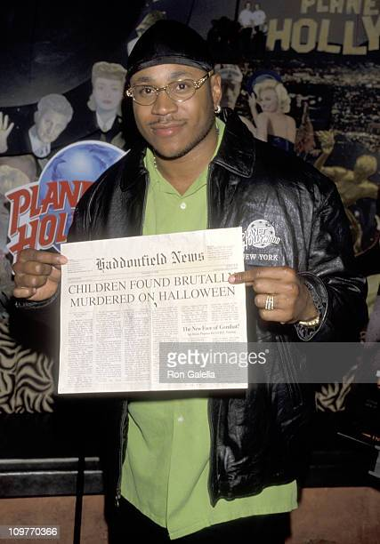 LL Cool J during Presentation of Props from 'Halloween H20' August 11 1998 at Planet Hollywood in New York City New York United States