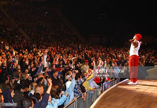 LL Cool J during WBLI Summer Jam 2003 Show at Jones Beach Amphitheatre in Wantagh New York United States