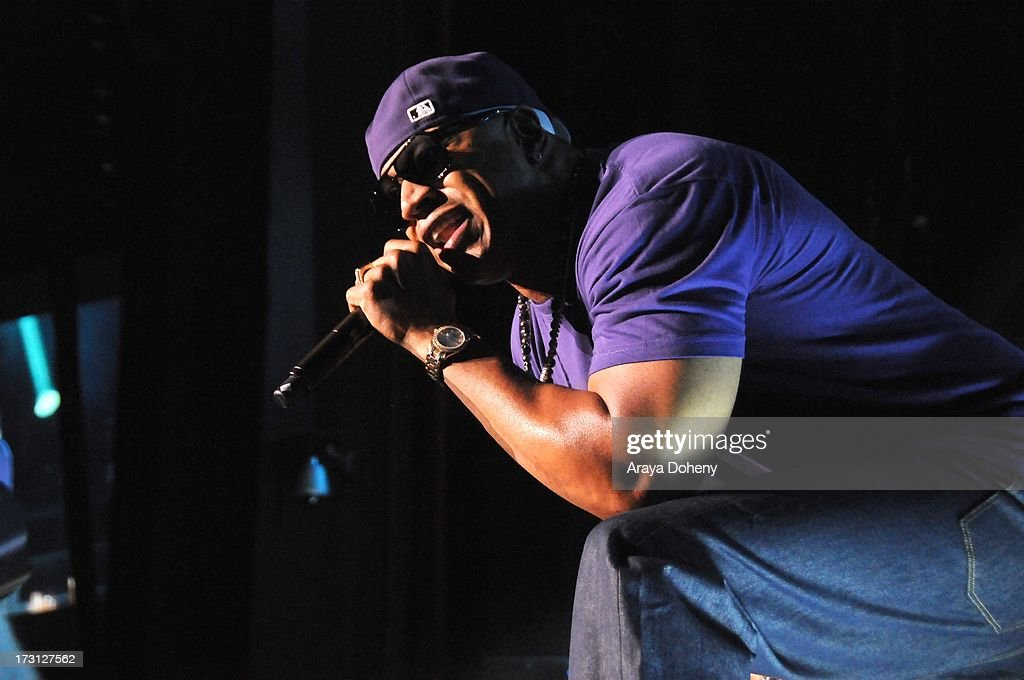 LL Cool J performs on stage at the Kings of the Mic Tour with special guests LL Cool J, Ice Cube, Public Enemy and De La Soul at The Greek Theatre on July 7, 2013 in Los Angeles, California.