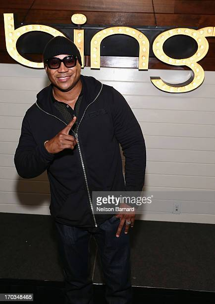 Cool J poses at The Bing It On Father's Day Challenge hosted by Bing and LL Cool J on June 11 2013 at The Standard High Line in New York City