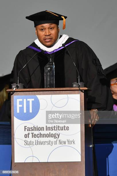 Cool J speaks onstage after receiving the President's Award for Creative Excellence during The Fashion Institute of Technology's 2017 Commencement...