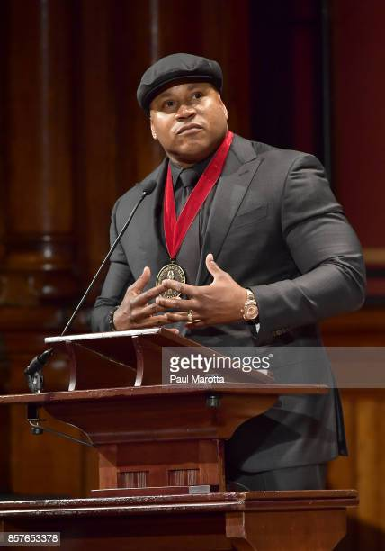 Cool J was one of eight recipients of the 2017 WEB DuBois Medal at Harvard University's Sanders Theatre on October 4 2017 in Cambridge Massachusetts...