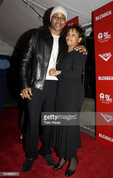 LL Cool J wife Simone during Blender Island/Def Jam and Pony MTV VMA AfterParty at Cafe St Barts in New York City New York United States