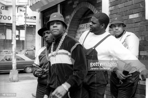 LL Cool J with Cut Creator E Love and BRock Manhattan New York 1987