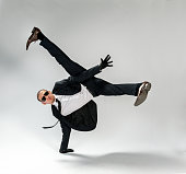 breakdancing businessman, free run
