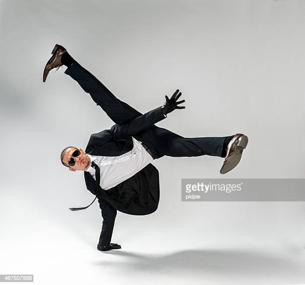cool looking,breakdancing businessman, free run