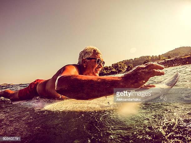 Cool senior on a surfboard
