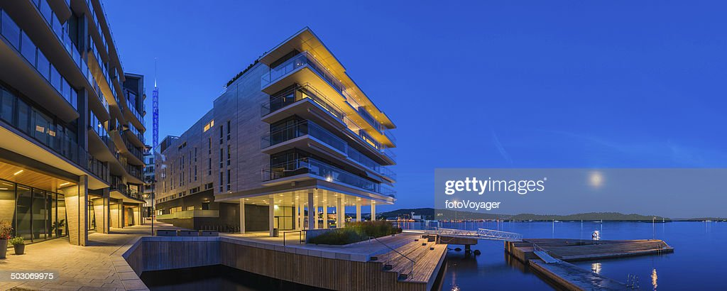 Cool Waterfront Apartment Buildings Glass Balconies Overlooking