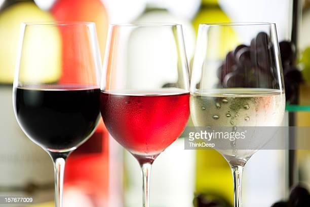De vin blanc et raisins