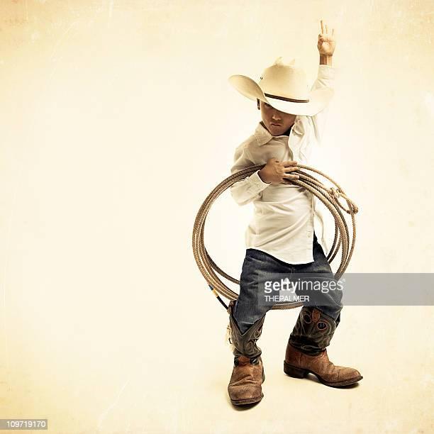 cool young cowboy kid