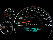 Coolant level low warning light on dashboard