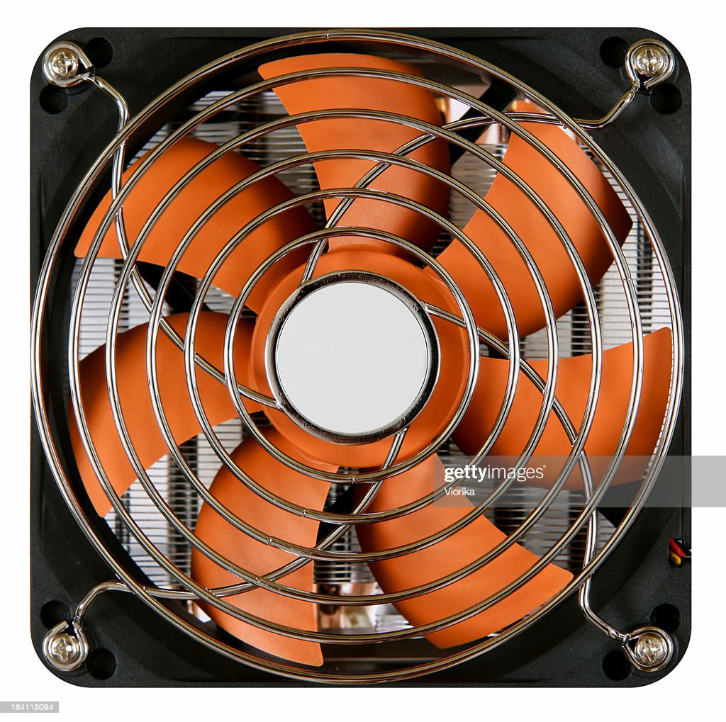 CPU cooler on white