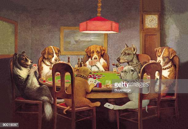 M Coolidge created at the turn of the century what would become a lasting image of anthropomorphic canines playing poker This series brings whimsy to...