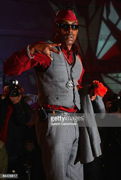Coolio is evicted from the Big Brother House during the final of Celebrity Big Brother 2009 at Elstree Studios on January 23 2009 in London England