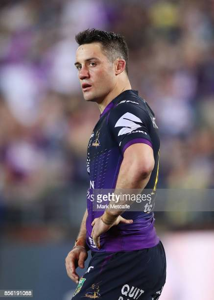 Cooper Cronk of the Storm looks on during the 2017 NRL Grand Final match between the Melbourne Storm and the North Queensland Cowboys at ANZ Stadium...
