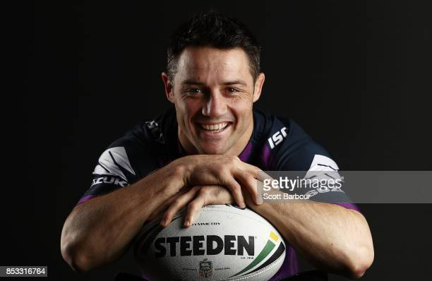 Cooper Cronk of the Storm poses during a Melbourne Storm NRL training session at Gosch's Paddock on September 25 2017 in Melbourne Australia