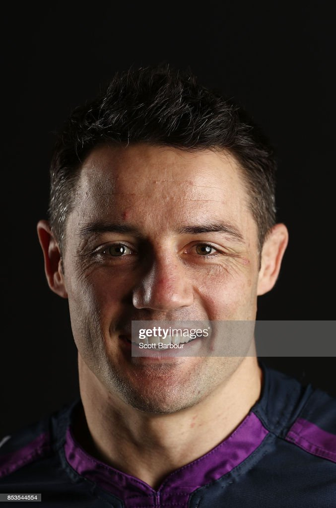 Cooper Cronk of the Storm poses during a Melbourne Storm NRL training session at Gosch's Paddock on September 25, 2017 in Melbourne, Australia.