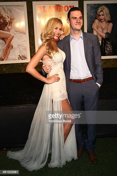 Cooper Hefner and 2014 Playmate Of The Year Kennedy Summers attend the Playboy's 2014 'Playmate Of The Year' announcement luncheon held at The...