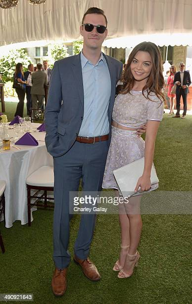 Cooper Hefner and Scarlett Byrne attend Playboy's 2014 Playmate Of The Year Announcement and Reception at The Playboy Mansion on May 15 2014 in...
