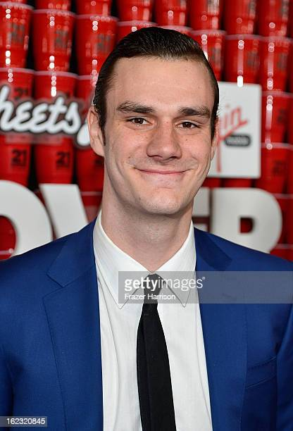 Cooper Hefner attends Relativity Media's '21 and Over' premiere at Westwood Village Theatre on February 21 2013 in Westwood California