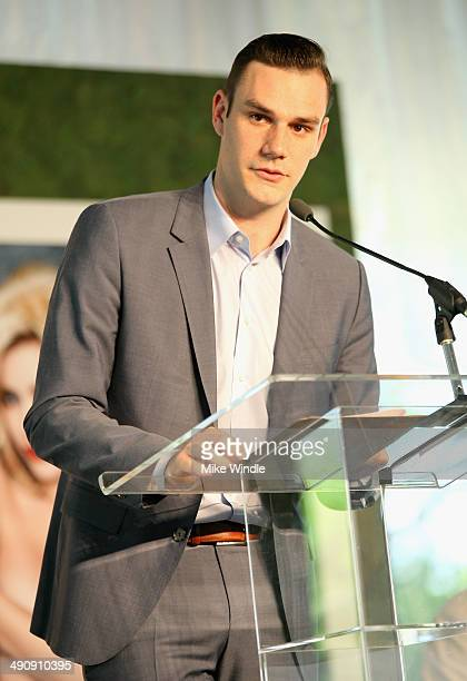 Cooper Hefner speaks onstage during Playboy's 2014 Playmate Of The Year Announcement and Reception at The Playboy Mansion on May 15 2014 in Holmby...