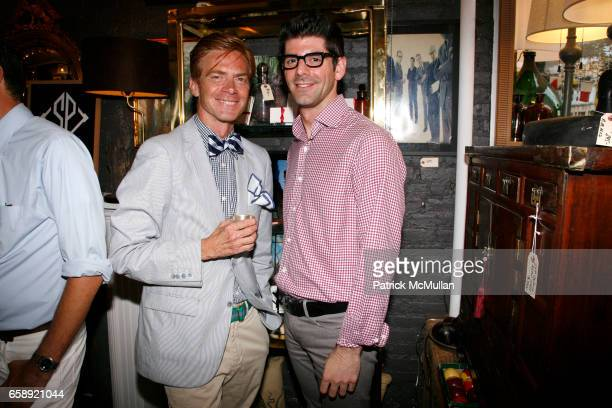 Cooper Ray and Daniel Cappello attend LULU de KWIATKOWSKI and DAVID CAFIERO welcome SOCIAL PRIMER to New York at 206 East 6th St on August 5 2009 in...