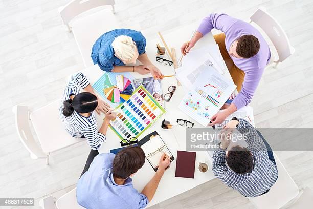 Coopération équipe de design