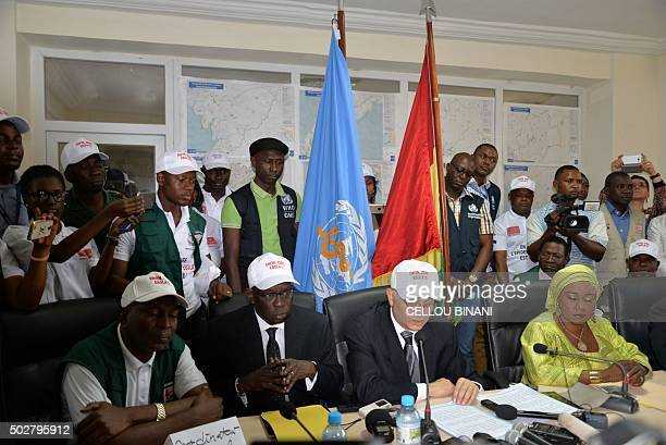 Coordinator of the fight against Ebola Doctor Sakoba Keita head of the UN Mission for the fight against Ebola Abdoul Dieng World Health Organization...