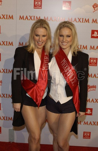 Coors light twins during the maxim party at super bowl xxxvii at the coors light twins during the aloadofball Gallery