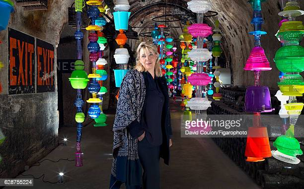 Coowner and head of the marketing division of Vranken Pommery Monopole Nathalie Vranken is photographed for Madame Figaro October 13 2016 in Reims...