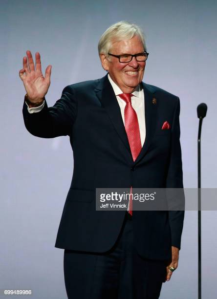 Coowner Bill Foley of the Vegas Golden Knights speaks onstage during the 2017 NHL Awards Expansion Draft at TMobile Arena on June 21 2017 in Las...