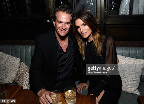 CoOwner of Casamigos Tequila Rande Gerber and Model Cindy Crawford attend Marie Claire's Image Maker Awards 2017 at Catch LA on January 10 2017 in...
