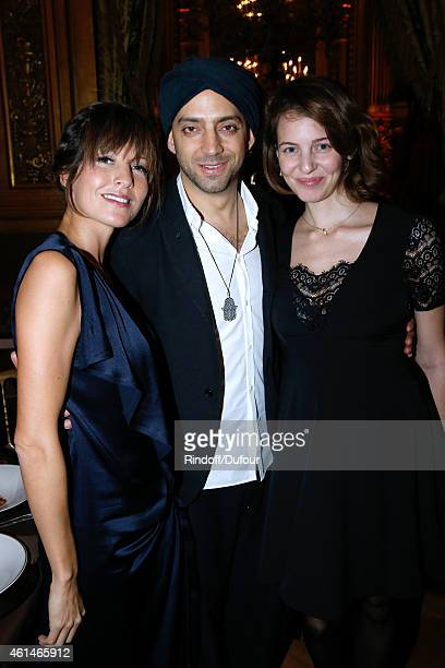 CoOwner of Leetha Caroline Nielsen Israeli singer Idan Raichel and his wife Damaris attend Weizmann Institute celebrates its 40 Anniversary at Opera...