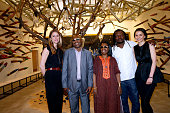 Coowner of the Gallery Victoire de Pourtales Singers Amadou and Mariam Cameroonian artist Pascale Marthine Tayou who exhibited at the Gallery and...