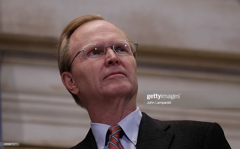 Co-owner of the New York Giants John Mara rings the opening bell at New York Stock Exchange on January 30, 2014 in New York City.