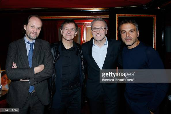 Coowner of the Theater JeanMarc Dumontet actor of the piece Francis Huster Autor of the piece Laurent Ruquier and Stage director of the Piece Steve...