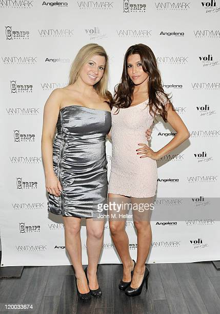 Coowner Vanitymark row Bar Katherine Goldman and actress Rachel Sterling attend the grand opening of the Vanitymark Brow Bar on July 28 2011 in Los...