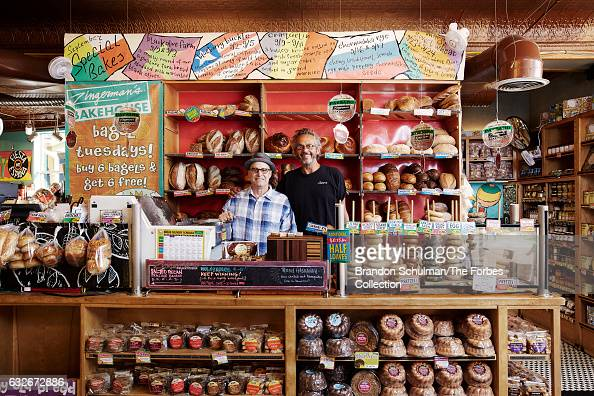 Coowners and founding partners of Zingerman's Deli Paul Saginaw and Ari Weinzweig are photographed for Forbes Magazine on September 28 2016 in Ann...