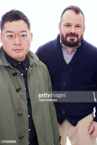 Coowners of Odin Eddy Chai and Paul Birardi are photographed for Esquire Magazine The Big Black Book on January 22 2014 in New York City