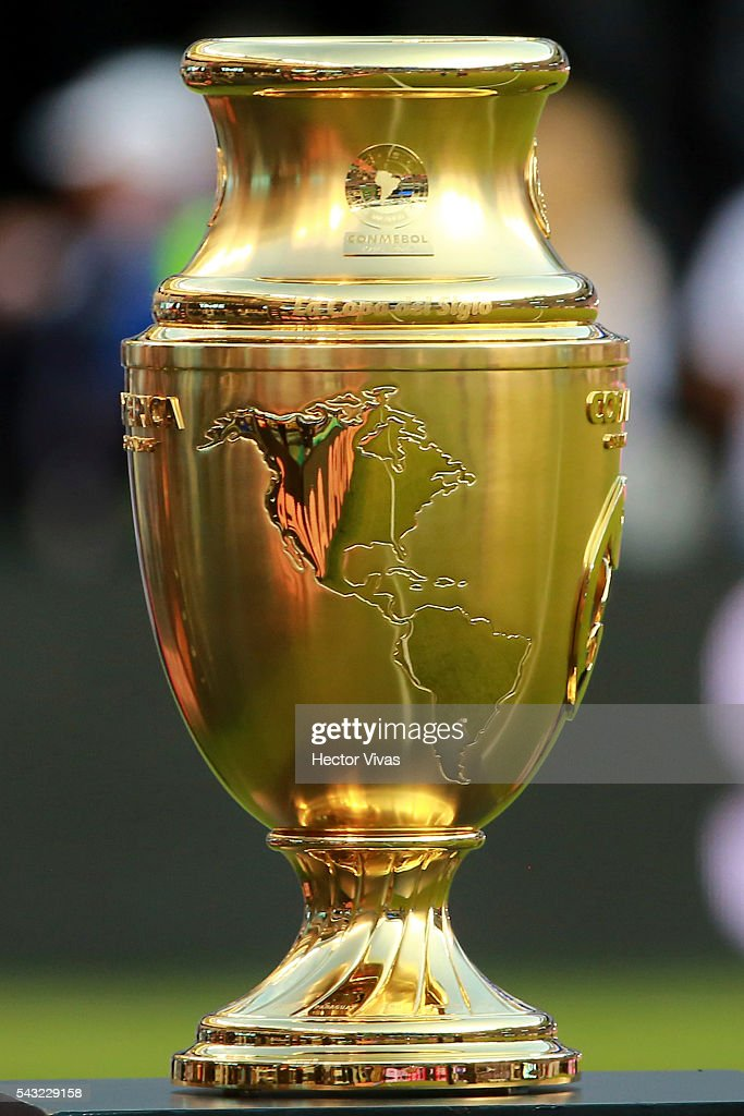 Copa America Centenario trophy prior the championship match between Argentina and Chile at MetLife Stadium as part of Copa America Centenario US 2016 on June 26, 2016 in East Rutherford, New Jersey, US.