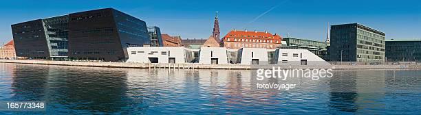 コペンハーゲンデンマーク王立図書館ブラックダイヤモンドウォーターフロントのパノラマデンマーク