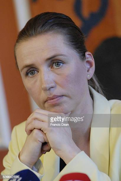 Copenhagen /Denamrk _06 May 2015_ MsMette Frederiksen minister for law and order r justic minister high light the police assesment report about...