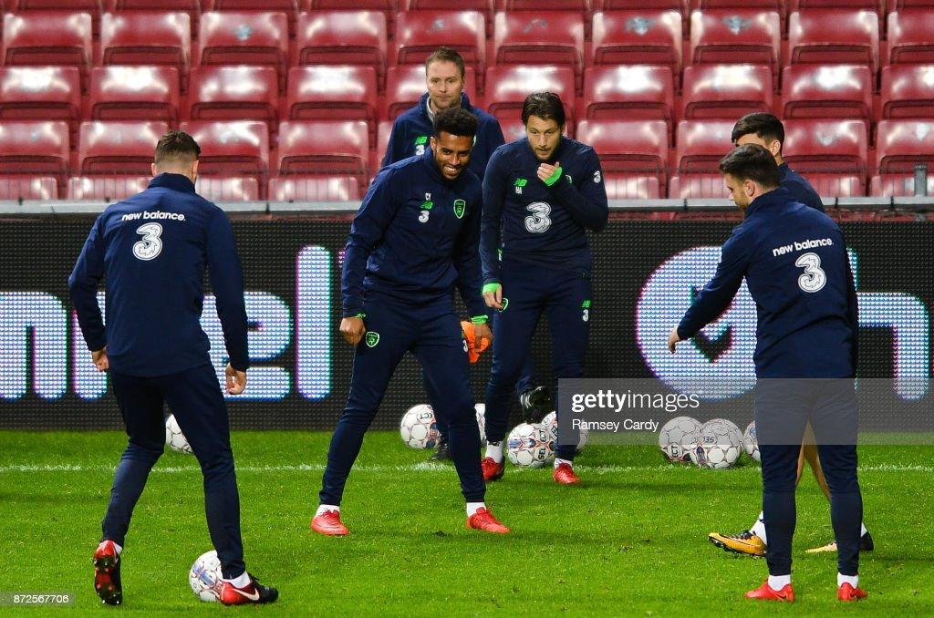 Copenhagen , Denmark - 10 November 2017; Cyrus Christie during Republic of Ireland squad training at Parken Stadium in Copenhagen, Denmark.