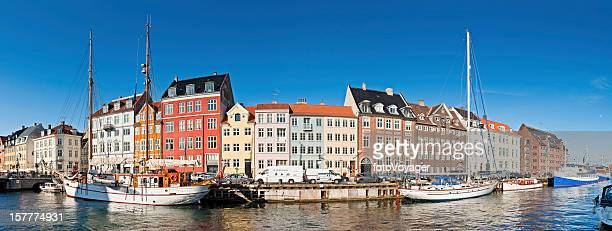 Copenhagen Nyhavn historic harbour panorama Denmark