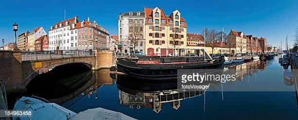 Copenhagen quiet canals Christianshavn panorama Denmark