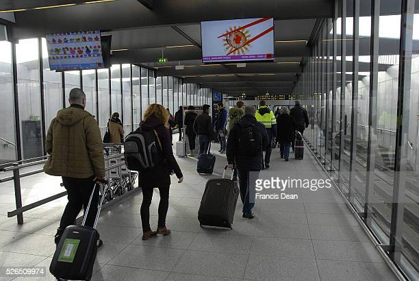 CopenhagenDenamrk 28 Febuary 2015 _Travelles going to Copenhagen Interntional Airport kastrup
