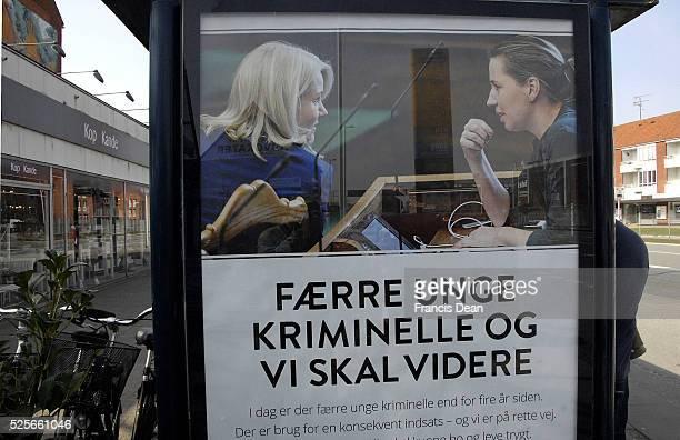 CopenhagenDenamrk _11 April 2015_ Prime miniter MsHelle Thorning Schmidt social democrat party coming elections compaing billboards Msmette...