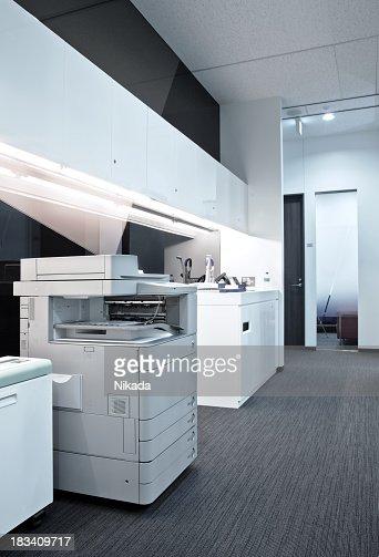 copier in an office floor